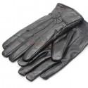 Svarta läderhandskar för damer och herrar