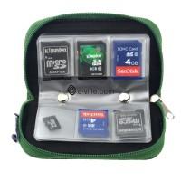 Kätevän muistikorttikotelon avulla pidät muistikorttisi helposti järjestyksessä. 22-paikkainen laukku mahtuu pieenen tilaan vaikka kameralaukkuun.