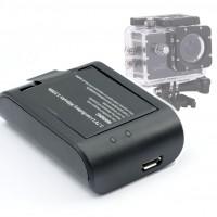 Batteriladdare till våra populära actionkamerorv SJ4000 & SJ4000 WiFi.