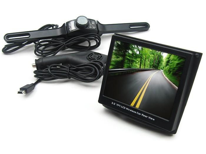 """Trådlös backkamera och 3,5"""" skärm till bilen"""