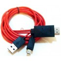MicroUSB till HDMI Adapter