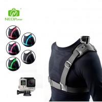 Kiinnitä action –kamera olkapäälle NEOPine kiinnitysvaljaiden avulla.