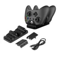 Xbox One ohjainten lataustelakka ja kaksi akkua. Pidät ohjaimet hyvässä järjestyksessä ja virtaa täynnä. Lisävarusteen hintakaan ei päätä huimaa.