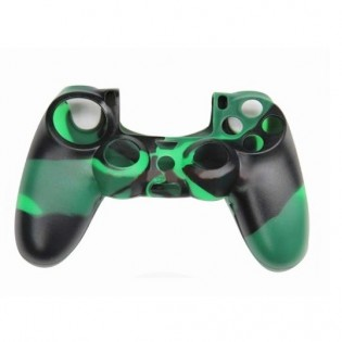 PS4 ohjaimen silikonisuoja maastovärillä - Vihreä + Musta