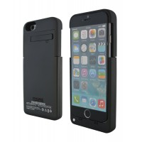 Lataava akku-suojakuori iPhone 6 -puhelimelle. Tämän lisävarusteen ansiosta sinun ei tarvitse enää pelätä akun loppuvan kesken päivän. Erinomainen ottaa mukaan vaikkapa kaupungille jos et ole ehitynyt ladata akkua täyteen.