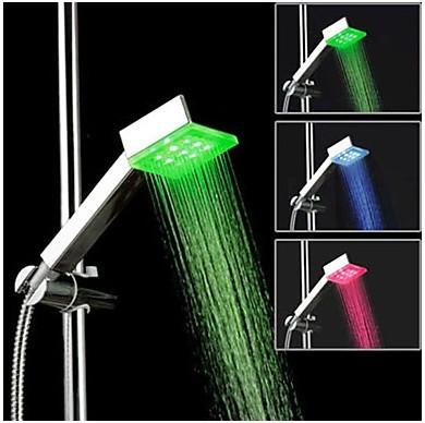 Kvadrat LED-färg duschmunstycke