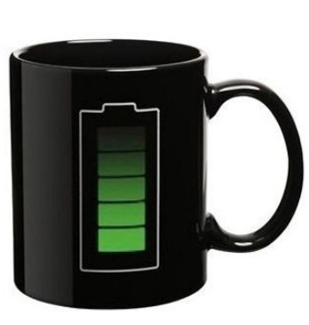Laddande kaffemugg