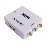 HDMI-AV-adapterin avulla voit muuntaa HDMI-signaalin AV- tai tutummin RCA-signaaliksi. Kytke HDMI-piuha adapterin toiseen päähän ja toinen pää toimii RCA-ulostulona.