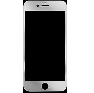 iPhone 6+ Silverglänsande skärmskydd i härdat glas