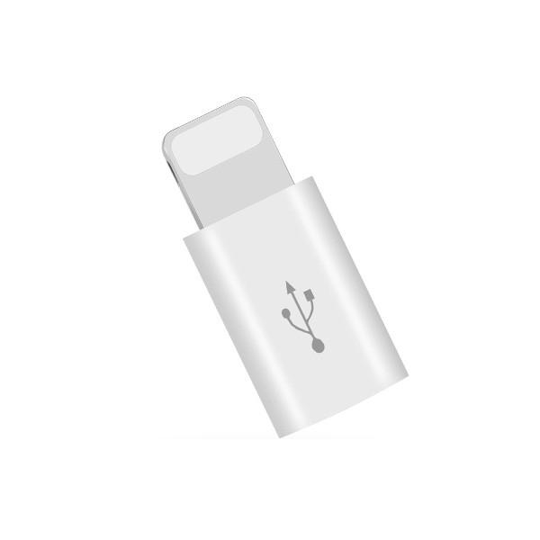 MicroUSB-Lightning -adapteri