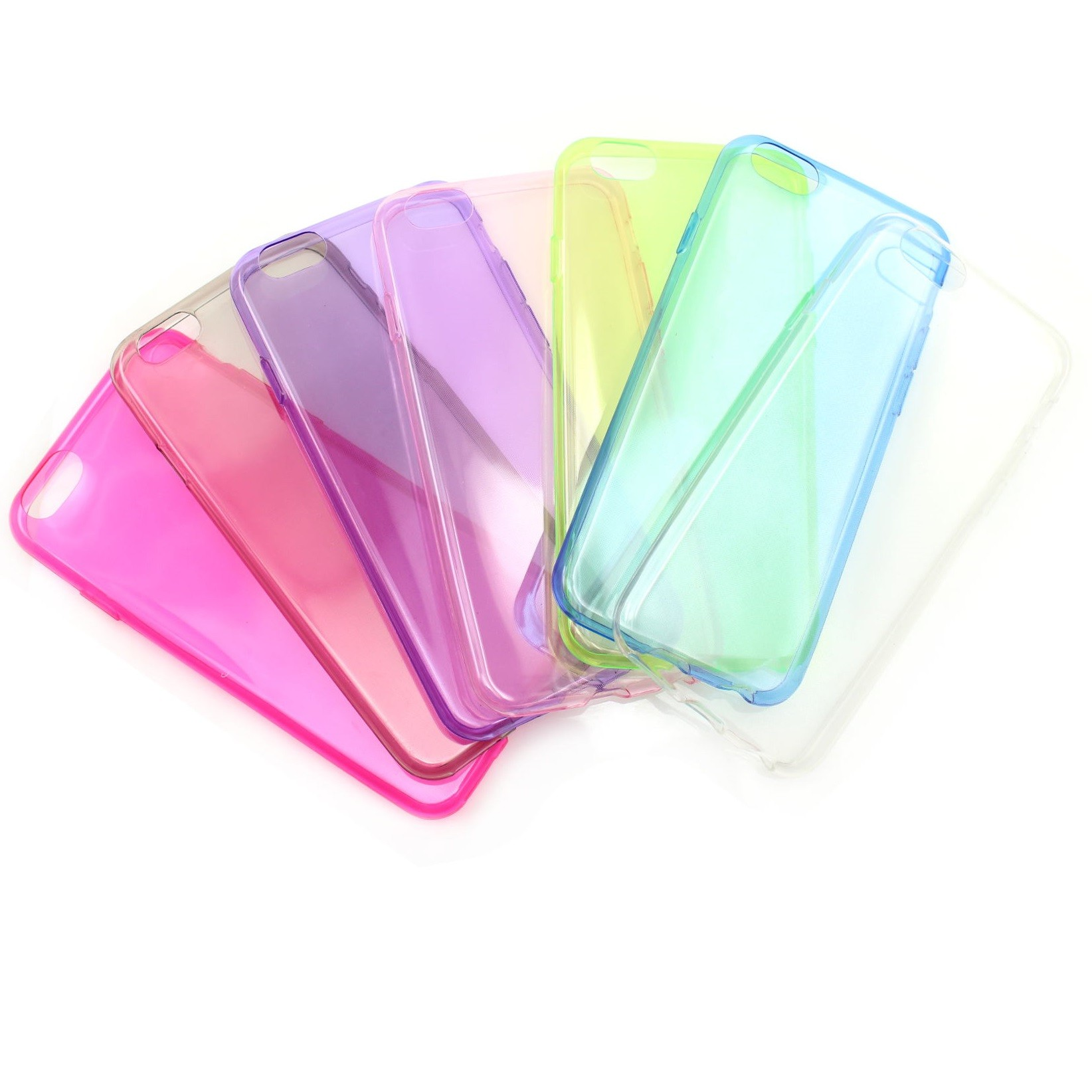 iPhone 6 tunt och färgglatt skyddsfodral