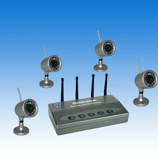 Langattomat turvakamerat 4 kpl