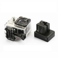 Extern batteriladdare till våra populära actionkameror SJ4000 och SJ5000. Du kan ladda två batterier samtidigt! Ström via laddare eller USB port.