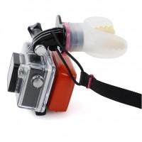 GoPro ja SJCAM -action kameroille suunniteltu pidike suuhun. Soveltuu erityisesti surffareille jolloin kuvaaminen onnistuu kätevästi ilman käsiä.