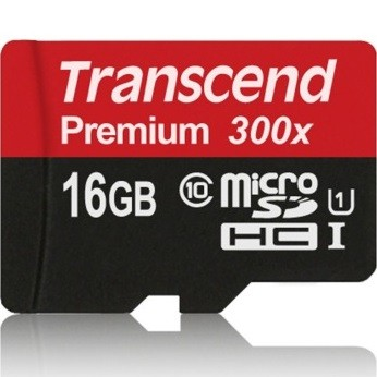 Transcend Premium 16GB Class 10 (45MB/S) MicroSDHC-kortti