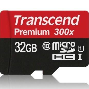 Transcend Premium 32GB Class 10 (45MB/S) MicroSDHC-kort