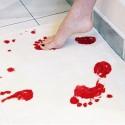 Blodiga badrumsmattan