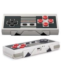 Vanhan NES-ohjaimen mukaan muotoiltu Bluetooth-peliohjain sopii käytettäväksi älypuhelinten tai PC:n kanssa.