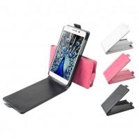 Flipcover till Huawei Honor 6 smarttelefoner. Robust designat och gjort av läder. Finns i flera färger. Vertikal modell som är enklare att använda när man tar fotografier med telefonen.