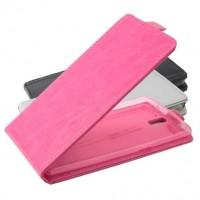Flipcover till Oneplus One smarttelefoner. Robust designat och gjort av läder. Finns i flera färger. Vertikal modell som är enklare att använda när man tar fotografier med telefonen.