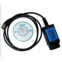 OBD2-EOBD-USB Diagnostiikka-kaapeli Fiat