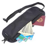 Tässä NatureHiken vaatteiden alla käytettävä rahavyö, jonka koko on juuri sopiva matkaajan lentolippuja, passia ja seteleitä varten. Piilolompakko on edullinen turva rahoillesi matkalla.