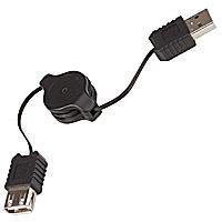 USB insnurrbar förlängningskabel