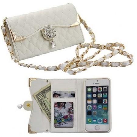 Lompakkosuojakotelo iPhone 5 / 5S:lle - Valkoinen