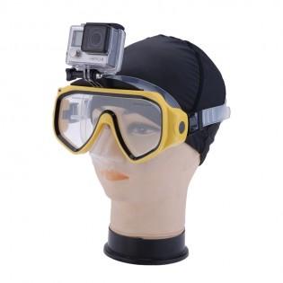 GoPro kiinnitys ja sukellusmaski - Keltainen