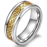 Denna typ av ring bars tidigare av Kung Fu-mästare, därav namnet på ringen. Ringen har vackra detaljrika mönster i guldfärg och en snyggt fasad kant.