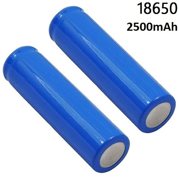 18650 Laddningsbara batterier 2-pack 2300mAh 3.7V