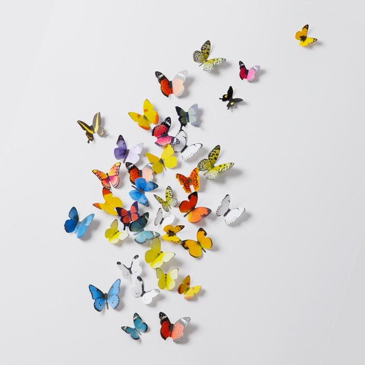 Perhoset 3D sisustustarra