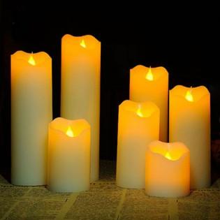 LED-kynttilä paristolla - 5 x 16 cm