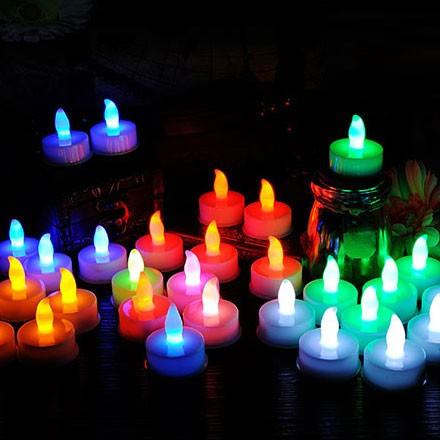 Färgade LED värmeljus