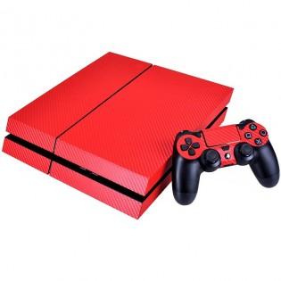 Hiilikuitu-suojatarra PS4-konsolille & ohjaimelle - Hopea