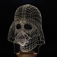 Darth Vader 3D lamppu on näyttävä sisustuselemetti. Tyylikäs tuote soveltuu niin nuoremmille kuin vanhemmillekin Star Wars faneille.