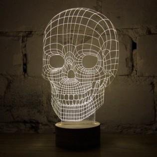 Pääkallo 3D lamppu
