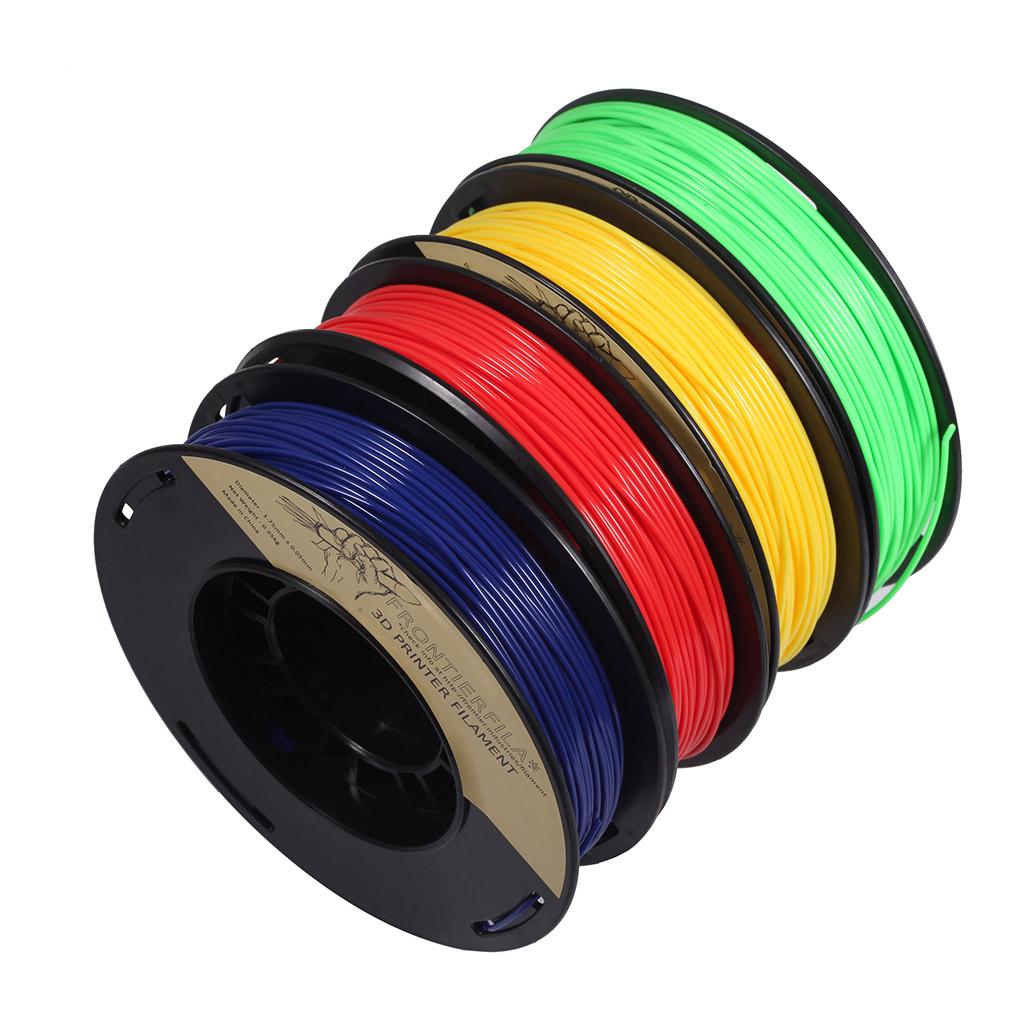 Grundfärg set 4x250g blå, röd, gul, grön 1.75mm FrontierFila filament för 3D-printer