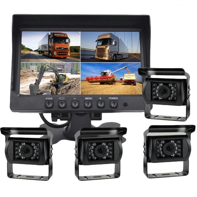 """Kuorma-auton 1-4 kameran setti & 7"""" LCD-näyttö"""