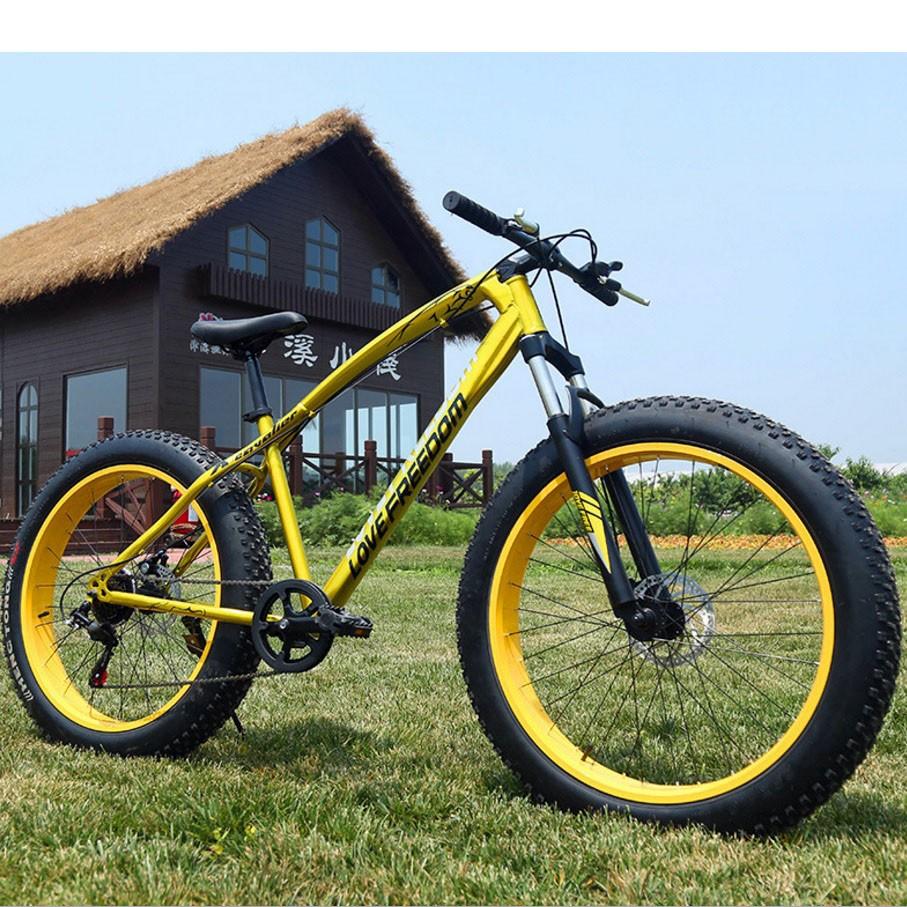 """26"""" Fatbike Freedom -maastopyörä 4"""" renkailla"""