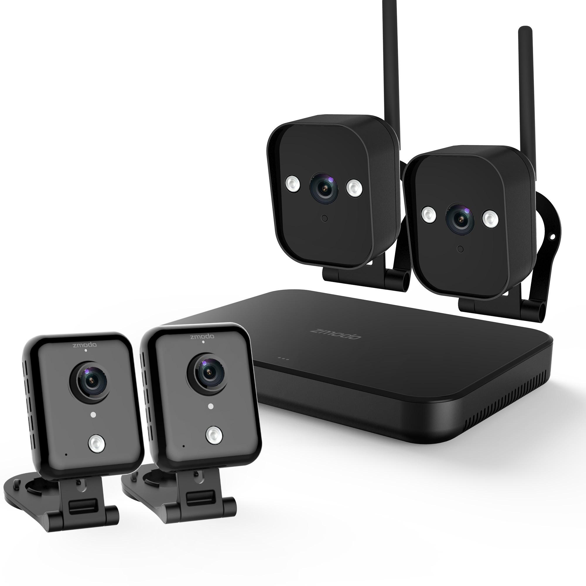 ZMODO Replay 2+2 WiFi valvontakamerasetti