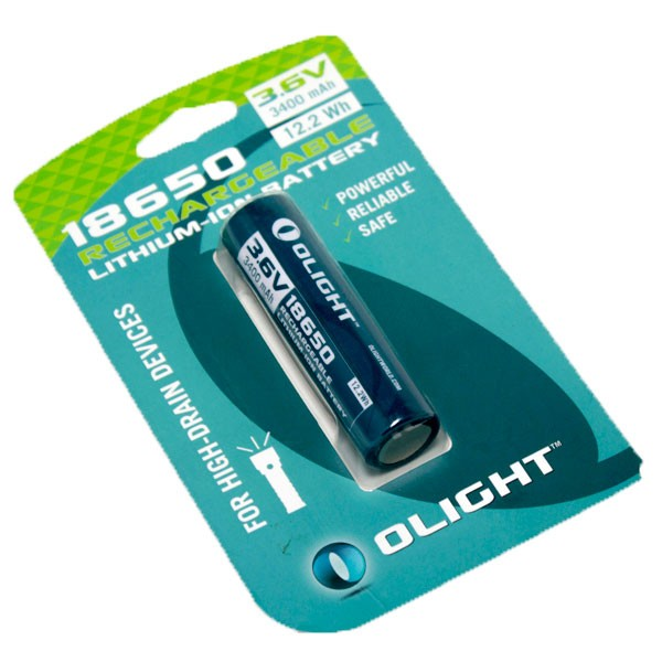 Olight 18650 -laddningsbart batteri 3400mAh