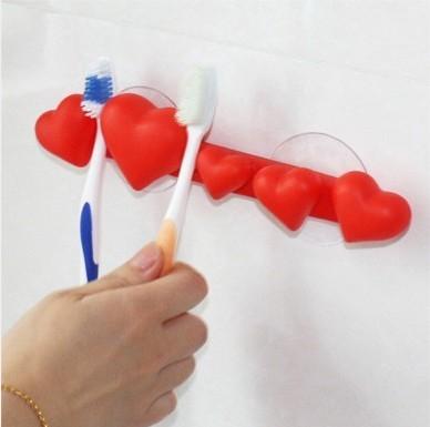 Tandborsthållare hjärtan