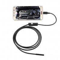 Android/PC USB-endoskooppi, jonka 2 m pituisella 7 mm kameravarrella saat kätevästi videokuvaa ahtaista paikoista suoraan älypuhelimeen tai PC:lle.