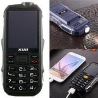 Xub Pronto on isolla 5000mAh akulla varustettu puhelin, joka soveltuu vaativiin olosuhteisiin. Puhelin, taskulamppu ja virtapankki - All in one!