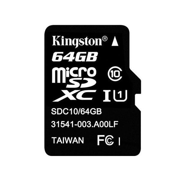 Kingston Micro SD 64GB minneskort Class 10