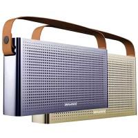 Stilren bärbar bluetooth-högtalare från Awei med snyggt retro-utseende.
