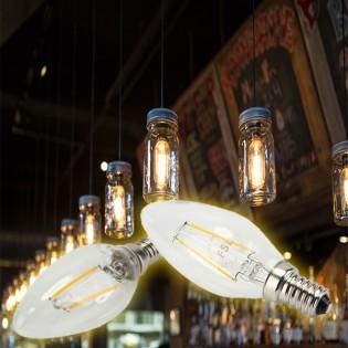 FSL Retro LED -kynttilälamppu E14 2W