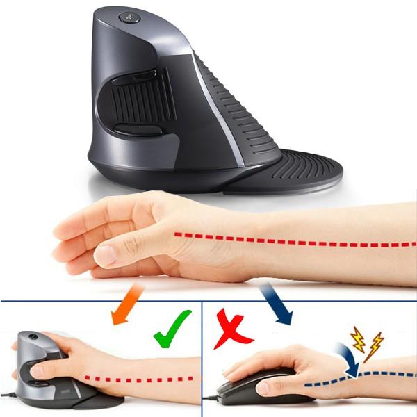 Delux comfort trådlös ergonomisk vertikalmus