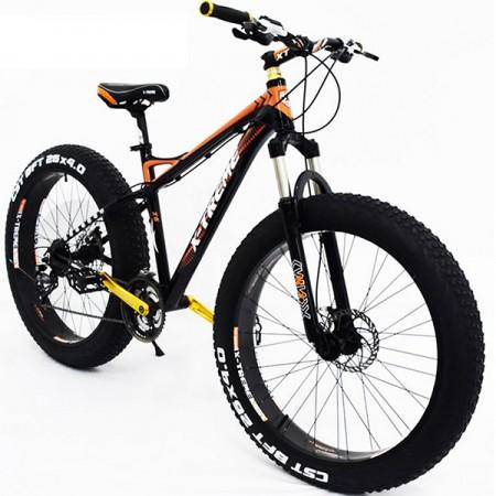 """26"""" Fatbike X-TREME 4"""" renkailla - Oranssimusta"""
